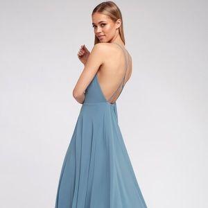 """Mythical kind of love"" slate blue Lulus dress"
